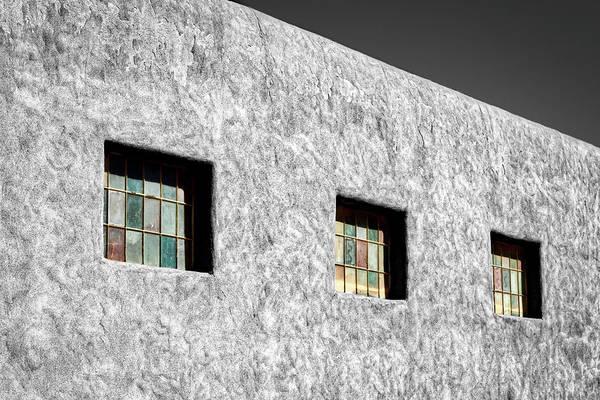 Photograph - Three Windows In Taos #3 by Stuart Litoff