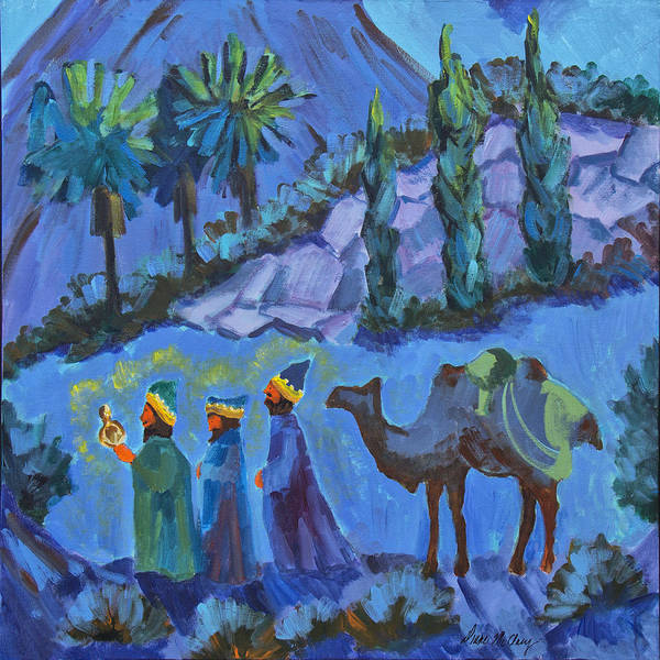 Wise Man Wall Art - Painting - Three Wise Men by Diane McClary