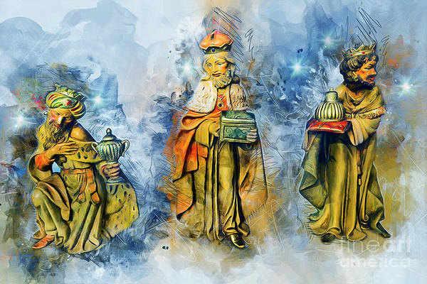 Painting - Three Wise Men by Ian Mitchell