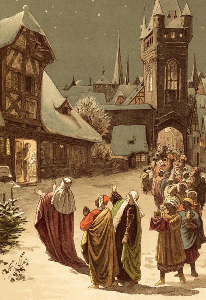 Bethlehem Wall Art - Painting - Three Wise Men by Victor Paul Mohn