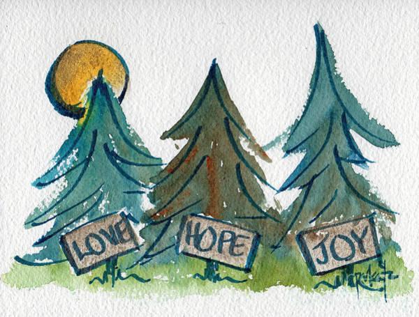 Painting - Three Wishes by Pat Katz