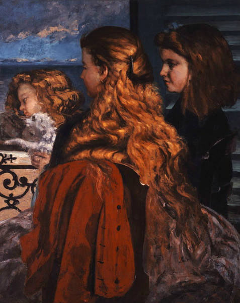 Painting - Three Young Englishwomen By A Window by Gustave Courbet
