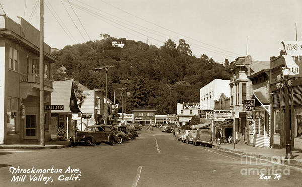 Photograph - Throckmorton Avenue, Mill Valley Circa 1941 by California Views Archives Mr Pat Hathaway Archives