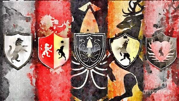 Painting - Thrones by Helge