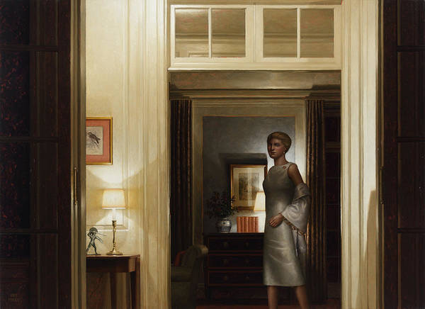 Painting - Through Hallway Vers. 2 by Harry Steen
