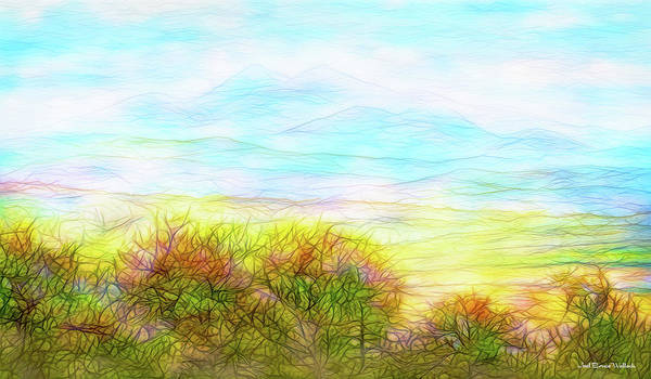 Digital Art - Through Mountain Mists by Joel Bruce Wallach