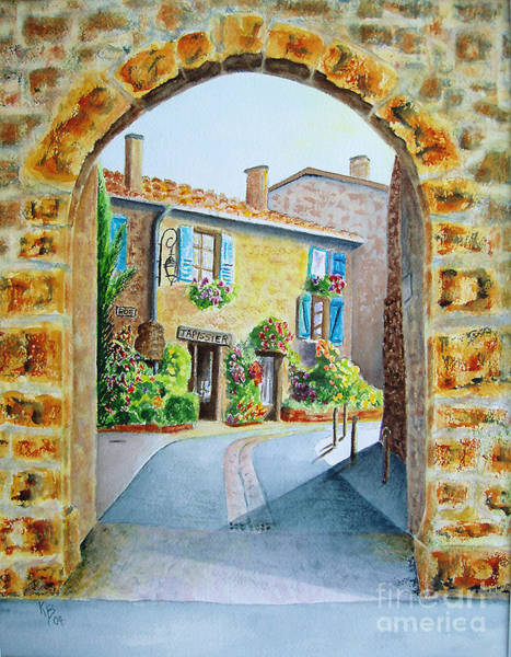 Painting - Through The Arch by Karen Fleschler