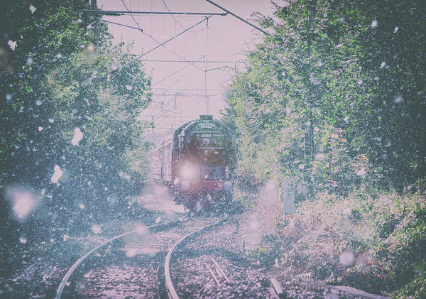 Railway Station Photograph - Through The Blizzard by Martin Newman