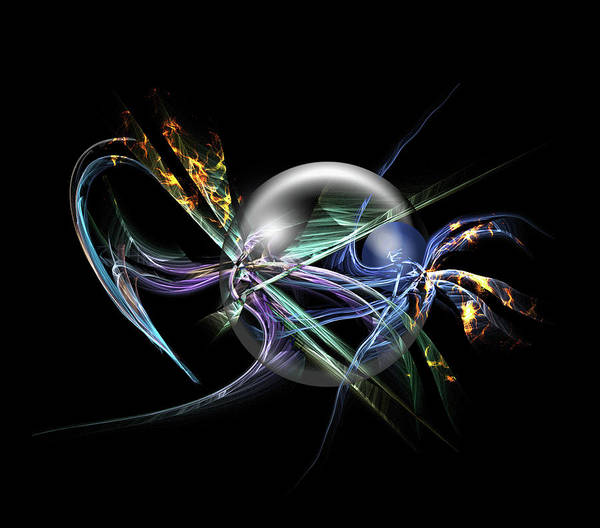 Showpiece Digital Art - Through The Bubble by Andy Young