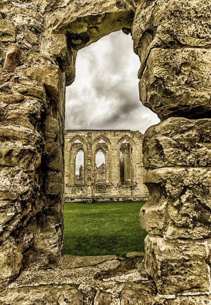 Photograph - Through The Castle Window by Nick Bywater