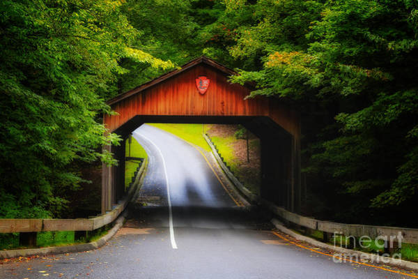 Photograph - Through The Covered Bridge by Rachel Cohen