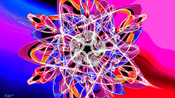 Quantum Physics Painting - Through The Dragon's Stargate by Abstract Angel Artist Stephen K