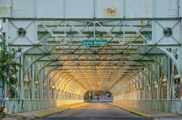 Photograph - Through The Falls Bridge - East Falls Philadelphia by Bill Cannon
