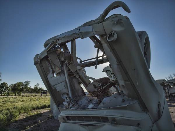 Photograph - Carhenge - Through The Hood by HW Kateley