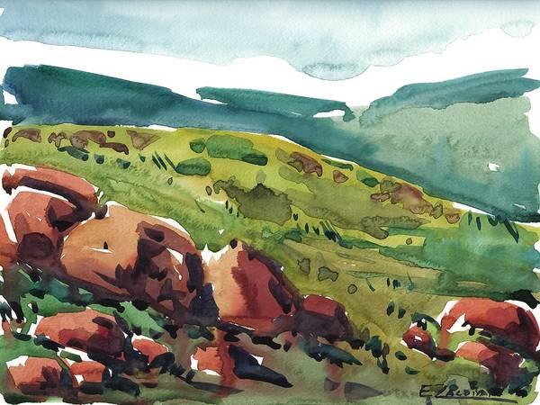 Through The Mountains Art Print