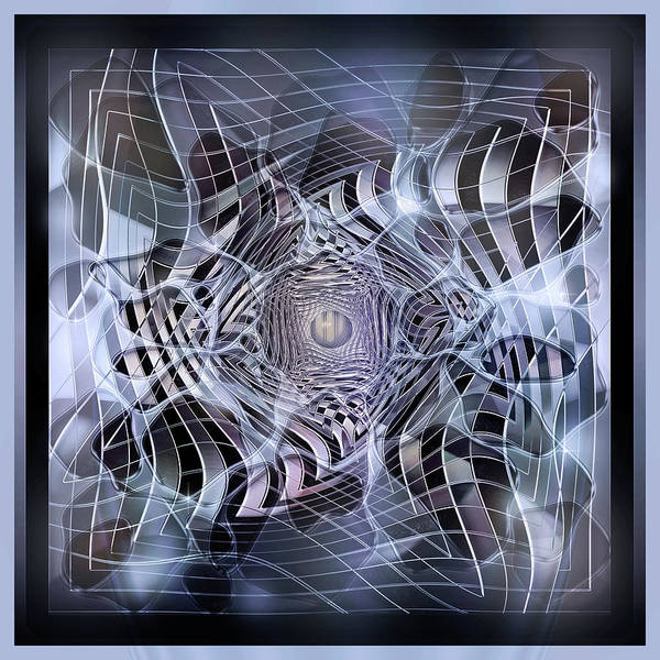 Showpiece Digital Art - Through The Next Looking Glass In Blue by Andy Young