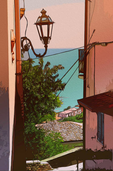 Painting - Through The Old Town by Andrea Mazzocchetti