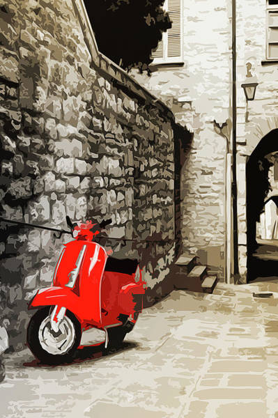 Southern France Painting - Through The Streets Of Italy - 01 by Andrea Mazzocchetti