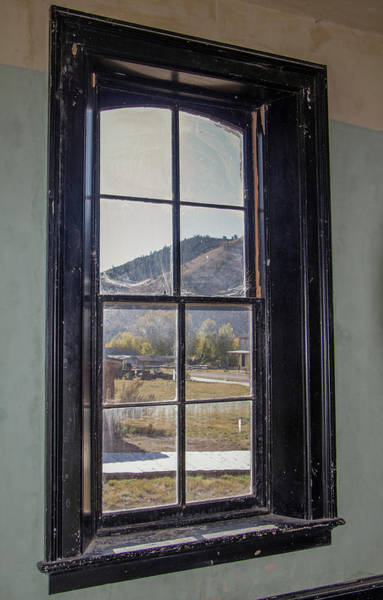 Photograph - Through The Windows Of Bannack 1 by Teresa Wilson