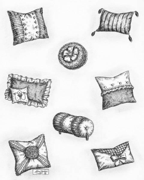 Wall Art - Drawing - Throw Pillows by Adam Zebediah Joseph