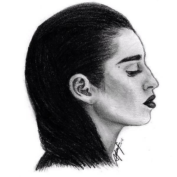 Draw Drawing - Lauren Jauregui Drawing By Sofia Furniel by Jul V