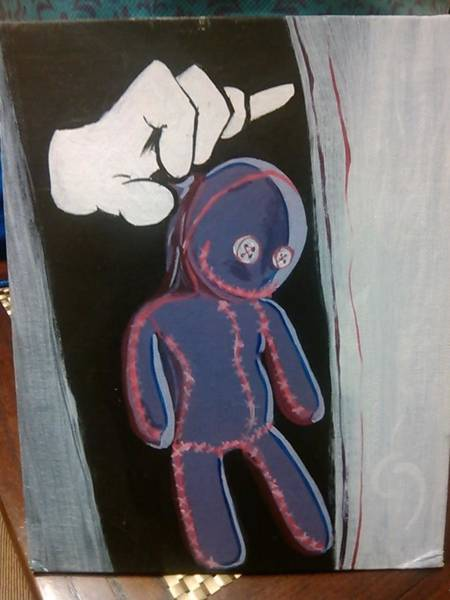 Voodoo Doll Painting - Throwdaway by Jeremy Lofton