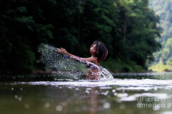 Photograph - Throwing Water by Dan Friend