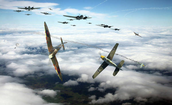 Battle Of Britain Digital Art - Thrust And Parry by Mark Donoghue