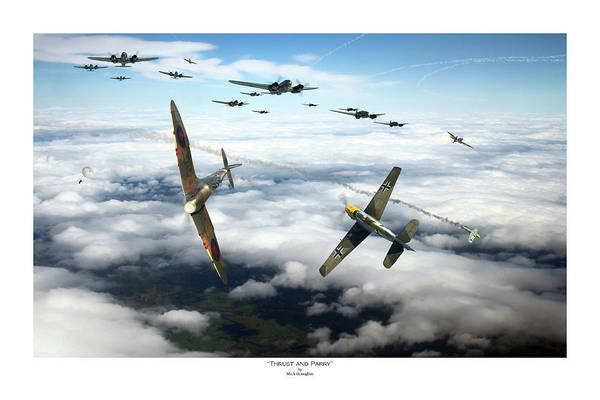 Battle Of Britain Digital Art - Thrust And Parry - Titled by Mark Donoghue