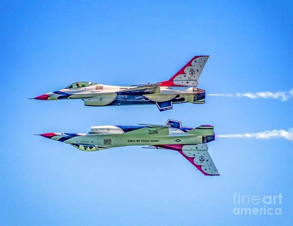 Photograph - Thunderbirds Reflection Pass by Nick Zelinsky