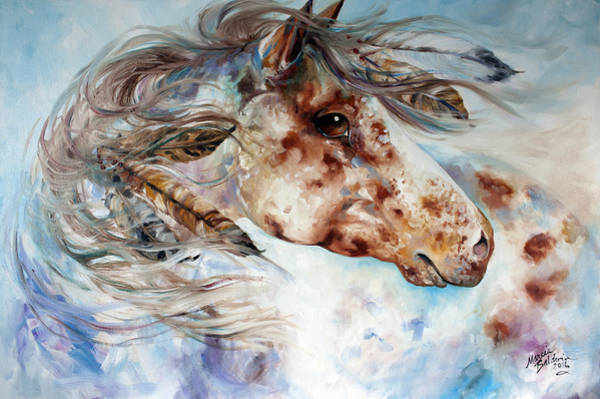 Painting - Thunder Appaloosa Indian War Horse by Marcia Baldwin
