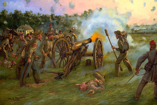 Wall Art - Painting - Thunder At Dawn - Parker's Battery At The Battle Of Antietam by Mark Maritato