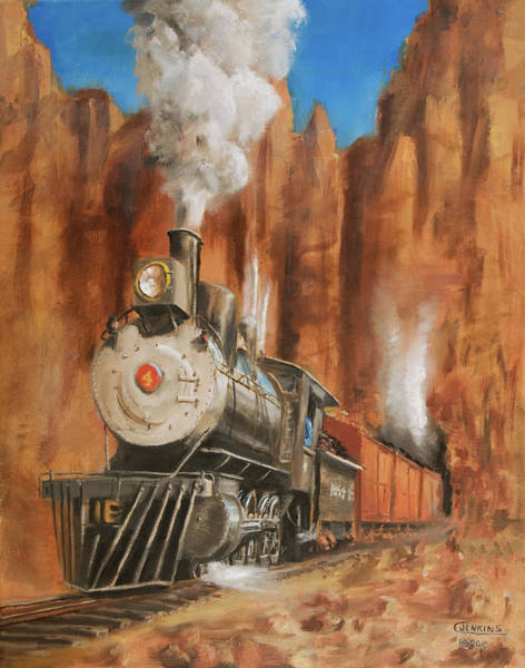 Wall Art - Painting - Thunder In Cathedral Canyon by Christopher Jenkins
