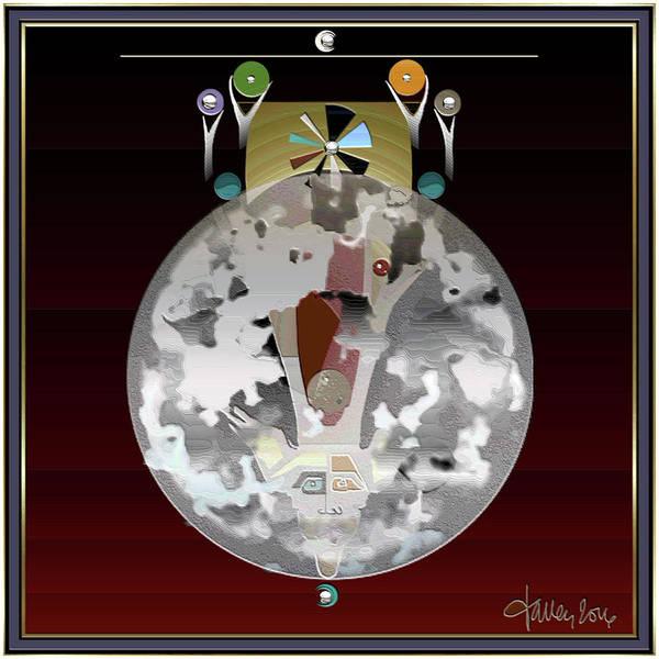 Mixed Media - Thunder Moon / Buck Moon by Larry Talley
