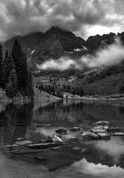 Wall Art - Photograph - Thunder Rolls On The Maroon Bells    by T-S Fine Art Landscape Photography