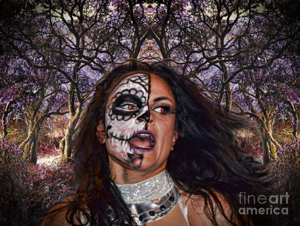 Rosa Digital Art - Thunder Rosa In A Mystical Forest by Jim Fitzpatrick