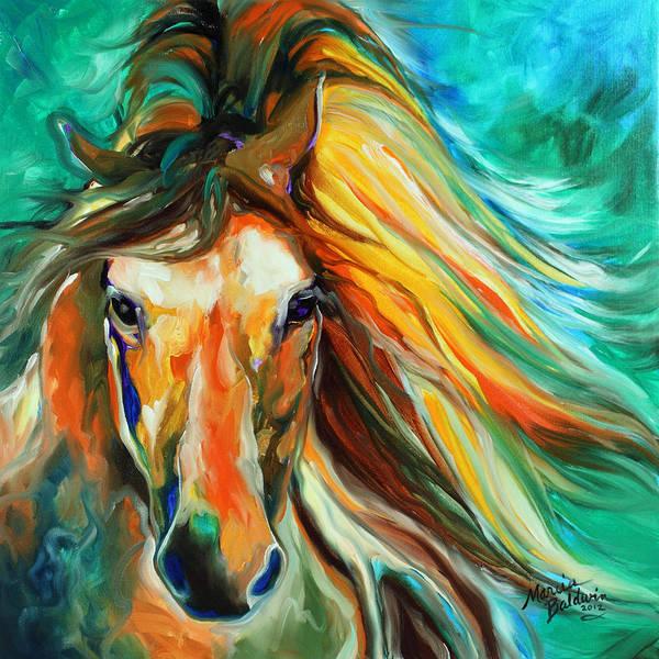 Painting - Thunder Run Abstract by Marcia Baldwin