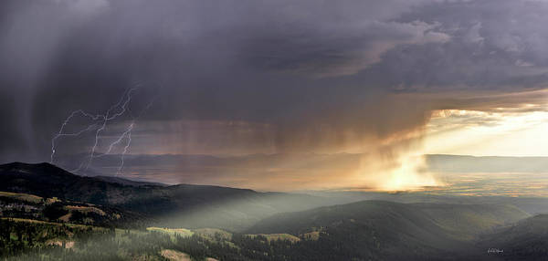 Wall Art - Photograph - Thunder Shower And Lightning Over Teton Valley by Leland D Howard