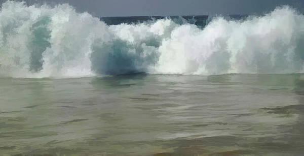 Mixed Media - Thunder Wave by Pamela Walton