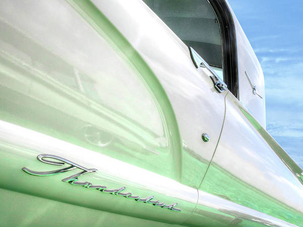 Photograph - Thunderbird Abstract In Mint And White by Gill Billington