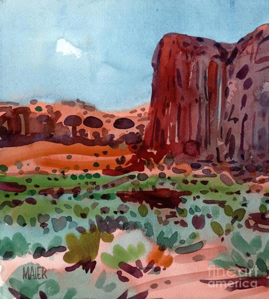 Butte Painting - Thunderbird Butte by Donald Maier