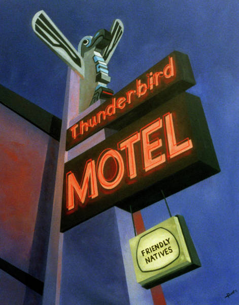 Painting - Thunderbird Motel by Sally Banfill