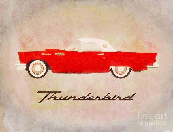 Maserati Painting - Thunderbird Pop Art by Sarah Kirk