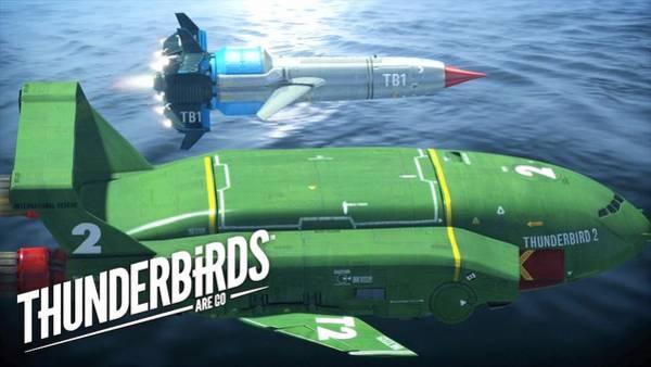 Water Digital Art - Thunderbirds Are Go by Maye Loeser