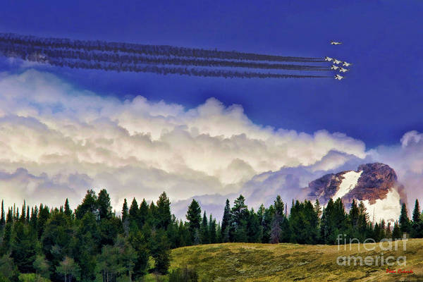 Photograph - Thunderbirds Buzz The Tetons by Blake Richards