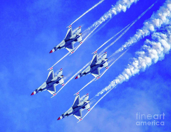 Photograph - Thunderbirds In The Clouds by Nick Zelinsky