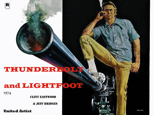 Dude Mixed Media - Thunderbolt And Lightfoot, Clint Eastwood, Jeff Bridges by Thomas Pollart