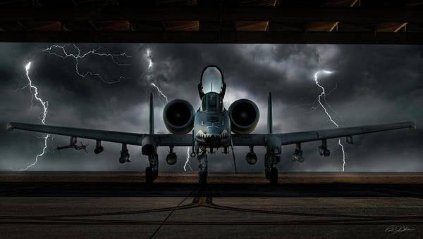 Close Digital Art - Thunderbolt And Lightning by Peter Chilelli