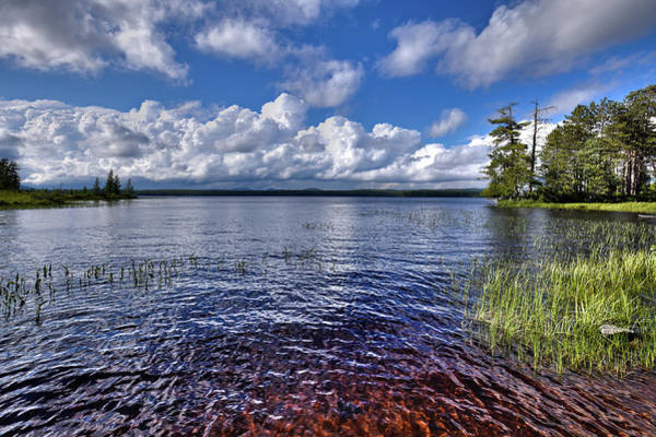 Photograph - Thunderhead Clouds Over Raquette Lake by David Patterson
