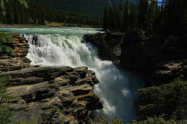 Photograph - Thunderous Athabasca Falls by Ola Allen